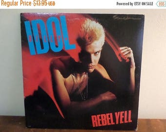 Save 30% Today Vintage 1983 LP Record Billy Idol Rebel Yell Chrysalis Records FV-41450 Very Good Condition 15241