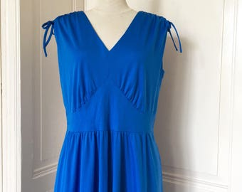 Vintage electric blue dress from the 80s