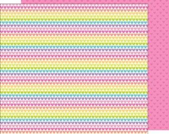 rainbow love 12 x 12 double-sided cardstock doodlebug design