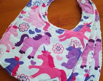 Unicorn Baby Bib