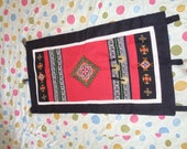 Vietnam Hmong Embroidered Wall Hanging - White