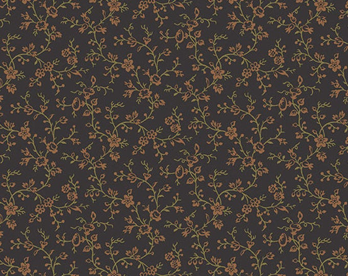 Lampblack - Flowery Vine Red 8479K - 1/2yd
