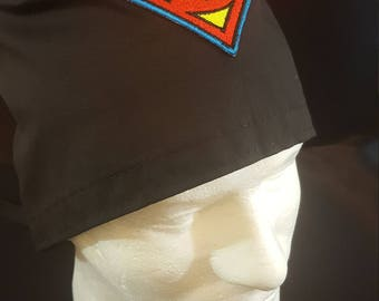 Superman DC Comics Tie Back Surgical Scrub Hat