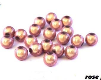 Pink X 10 magic pearls 6mm