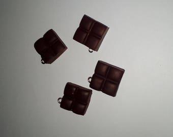 X 1 piece of black polymer clay chocolate