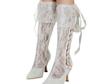 Vintage Lace Boots Victorian Bridal BootsBridal Wedding