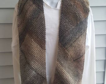 Super soft knit scarf, winter wear, holiday gift, woman scarf, scarves and wraps, triangle directional scarf (cobblestone)