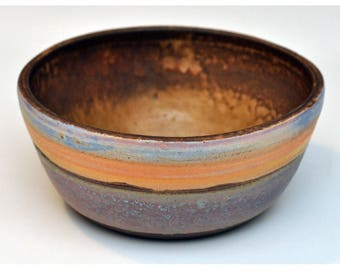 Ceramic Mixing and Serving Bowl with Ocean Scene