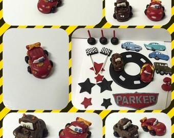 Disney Cars  Fondant Cake Topper