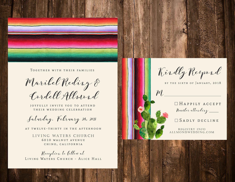 Wedding Invitations Spanish: Spanish Blanket Wedding Invitations Mexico Mexican