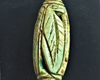 Vintage Ancient Egyptian Faience  Bead-Amulet, A Rare Amulet, Egyptian Cobra Amulet, Valley Of The Queens, Luxor - Egypt. 28 mm.