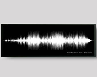 Custom Song Sound Wave Art Print, Birthday Gift for Musician, for Music Lover, for Boyfriend, DJ Gift Ideas - Any Song, Music Wall Art