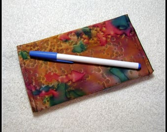 Checkbook Cover -- Female Gift Item - Quilted Checkbook - Contemporary Fabric - Cotton Fabric - CC10