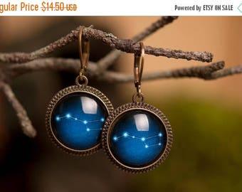 20% OFF Ursa Major earrings, Big Dipper earrings, galaxy earrings, dangle earrings, antique brass earrings, constellation earrings, space ea