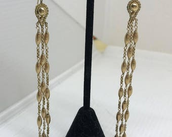 Michael Ases Designer Gold Dangling Earrings