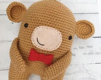 Crochet monkey toy, monkey plushie, amigurumi monkey, monkey toy