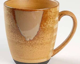 Splash Brown by SANGO Stoneware, Brown Drip Pattern Collectible Large Mug