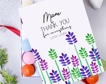 Thank You Mum Box Of Candles - Mothers Day Gift - Candle For Mum - Thank You Mum Gift - Box of Candles - Scented Candle For Mum