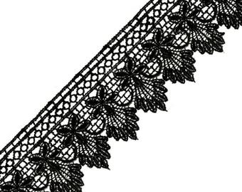 Guipure lace black 55 mm