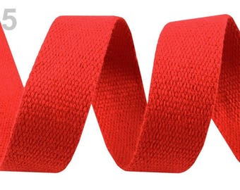 Poppy red cotton webbing orange 30 mm
