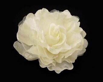 Big fabric flower brooch or hair