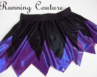 NEW Ursula inspired black and purple metallic sparkle Running Women's Circle skirt Ariel/ Mermaid