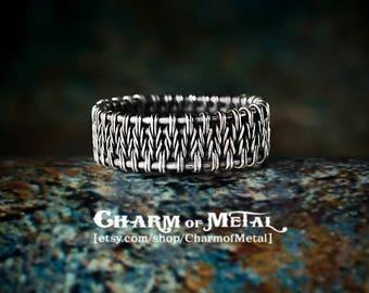Silver jewelry jewel wire wrap wrapped gift for woman girlfriend men boyfriend unisex Scandinavian Viking Viking Weaving ring