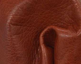 "Redwood Hue Leather New Zealand Deer Hide 8"" x 10"" Project Piece 3 ounces TA-56259 (Sec. 3,Shelf 4,C)"