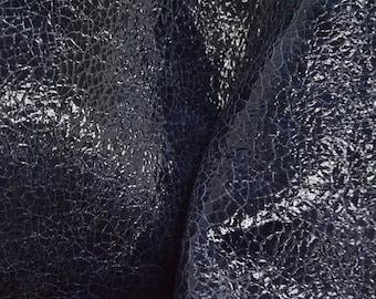 "NZ Deer Sale Leather Fashion New Zealand PAC Deerskin Hide 8"" x 10"" Night Sailing 2-2 1/2 oz RA-54495 (Sec 4,Shelf 2,C)"