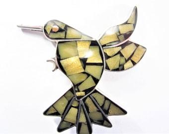 Vintage Taxco Sterling Hummingbird Brooch