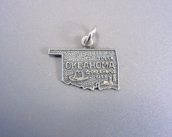 Vintage Sterling Oklahoma State Charm
