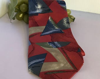 V293 Don Loper Beverly Hills Made in USA silk tie