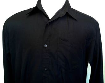 Lightweight Black Vintage Shirt