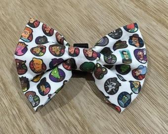 Futurama Bow-Tie / Loops onto collar with elastic