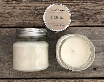 White Tea Mason Jar Soy Candle