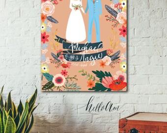 Newly Engaged Gift - Unique wedding gift - Custom for  jlhoward07