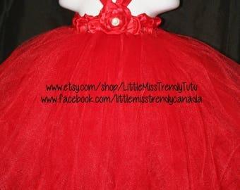 ON SALE Red Tutu Dress, Tutu Dress, Flower Girl Tutu Dress, Flower Girl, Red Tutu Dress, Christmas Tutu Dress