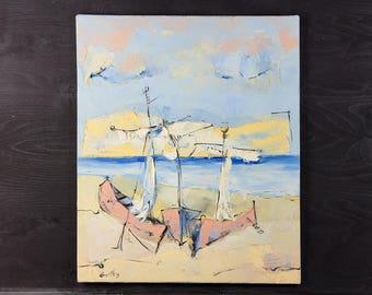 Sailing Painting Oil Painting Original Painting Canvas Painting Sailboat Painting Sailing Art Ocean Painting Sailboat Art