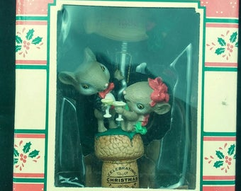 "Enesco Christmas ""Mistle-Toast"" 1989 Treasury of Christmas together NEW"