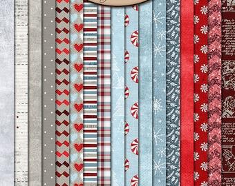 Digital Scrapbooking, Paper, Patterned, Textured: Christmas Cheer