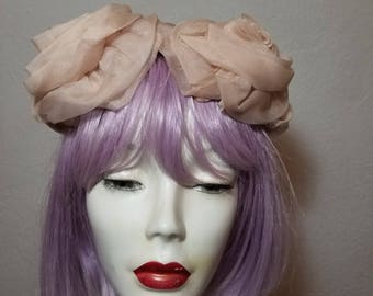 FREE  SHIPPING  1950  Vintage  Rose  Mini  Hat