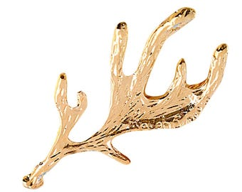 Antler hair pin large gold woodland wedding fairy