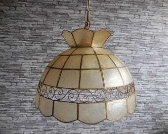 Vintage mother of pearl/ nacre lampshade
