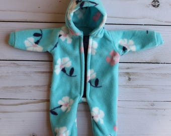 "footed sleeper clothing set for 9"" mini reborn baby doll clothes outfit micro preemie silicone OOAK reborn"