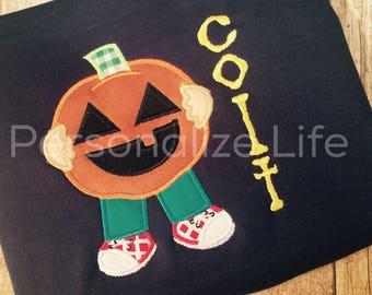 Pumpkin Boy Halloween Shirt, Boys Halloween Shirt, Personalized Halloween Shirt.