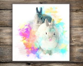 Multiple Pet Custom Portrait, Downloadable Digital Artwork, Pet Portrait, Digital Pet Painting Based on Photo, Pet Lover Gift