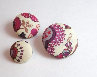 Liberty Mabelle purple 22 mm button