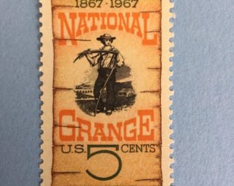 Five Cent Stamps from the 1960's.  National Grange Postage Stamps, Unused postage, 20 stamps