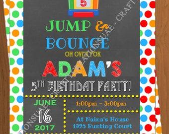 Bounce House Birthday Invitation - Bounce Party Invitation - Bouncy House Birthday Invitation - Printable bounce house invitation- CraftyUAE