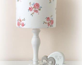 Lampshade Handmade Floral Rose Fabric 20cm 30cm Drum Lampshade